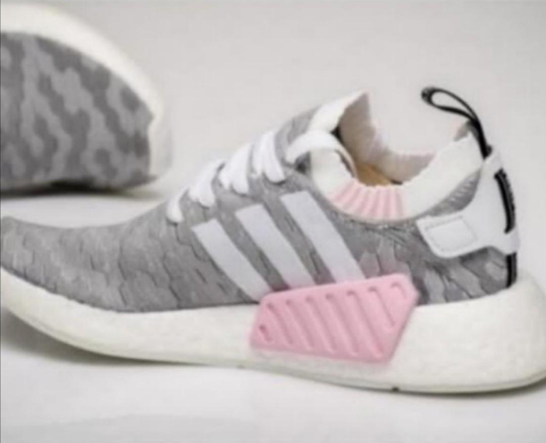Adidas NMD R2 Prime Knit PK Grey Pink