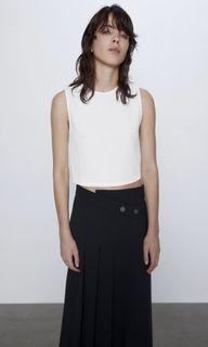 BNWT Zara textured crop top