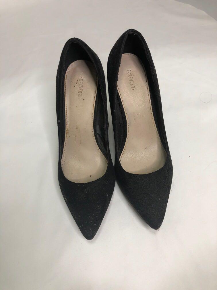 Forever 21 black heels pumps, Women's