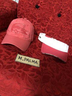 Lacoste rare biglogo dadhat and lacoste sunvisor as pack