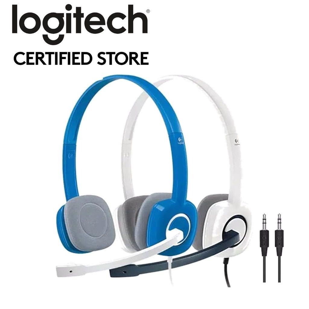 Logitech H150 Stereo Headset - Cloud White/Sky Blue, Electronics, Audio on  Carousell