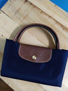 正品Longchamp 短柄手提托特水餃包M號 中號