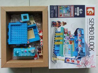 SEMBO BLOCK 61065 to 61068 - Japanese Food Kiosks.  (USED, NOT LEGO)