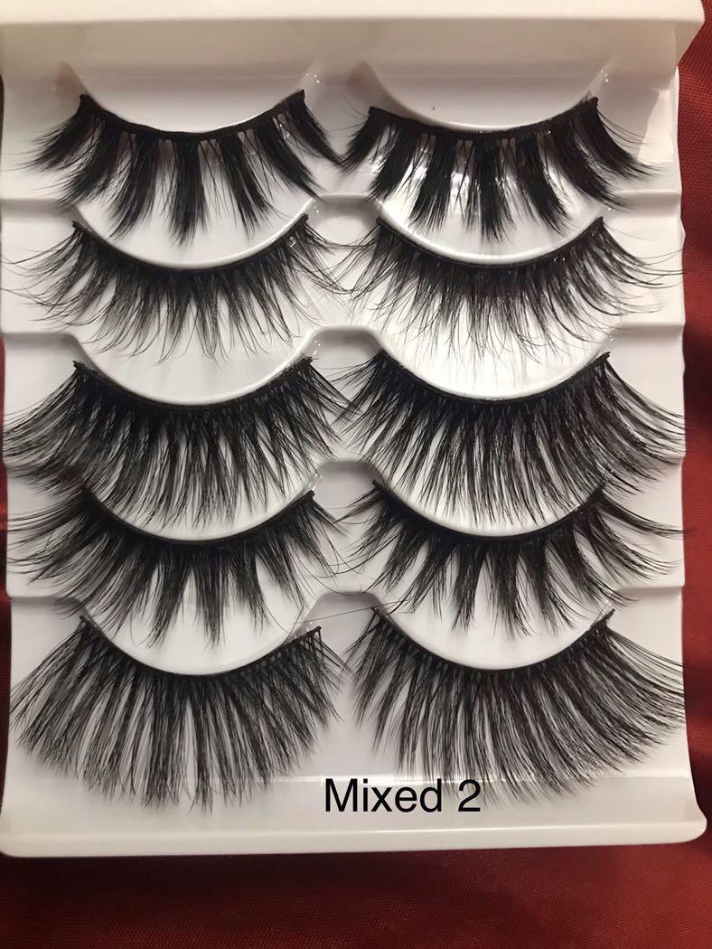 3D mink 5 pair lashes