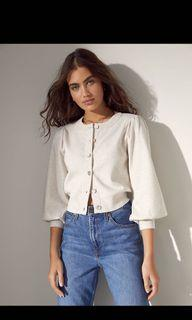 Aritzia Wilfred Alessia Cardigan in Heather Mullein Size Small