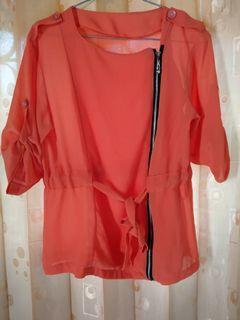 Blouse warna orange