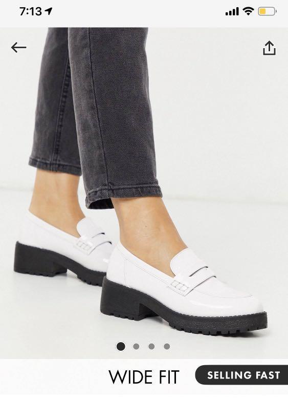 BN ASOS chunky white loafers, Women's