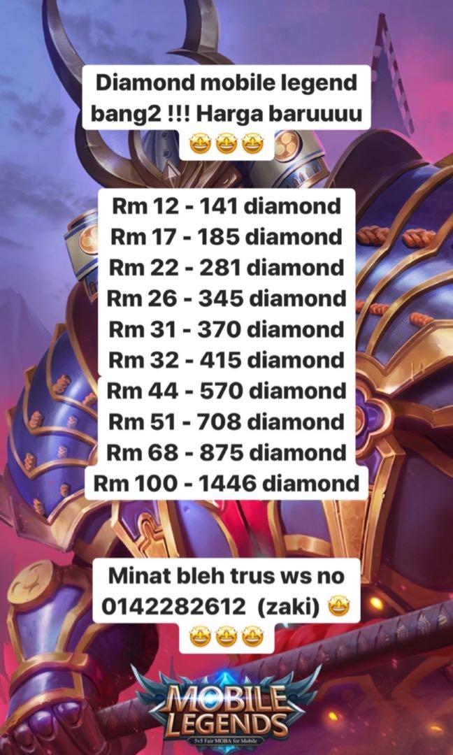 Diamond Mobile Legend Murah2 Video Gaming Others On Carousell