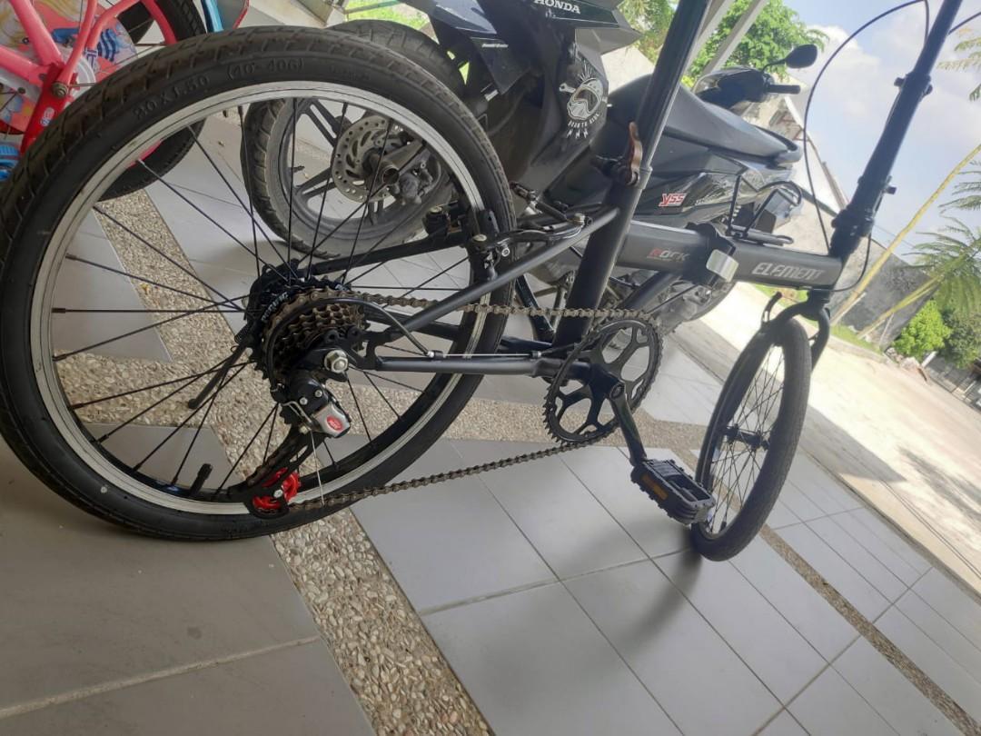 Element Rock Sepeda Lipat Modif Olah Raga Sepeda Di Carousell