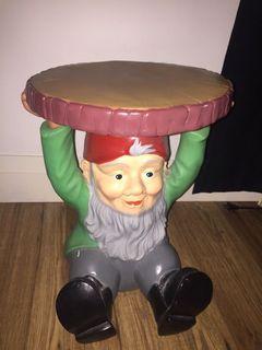 Gnome plant holder /stool