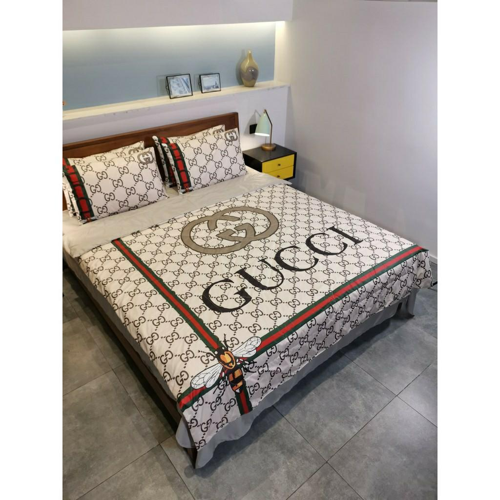 Gucci Bedsheet With Comforter Set Furniture Home Decor Cushions Linen On Carousell