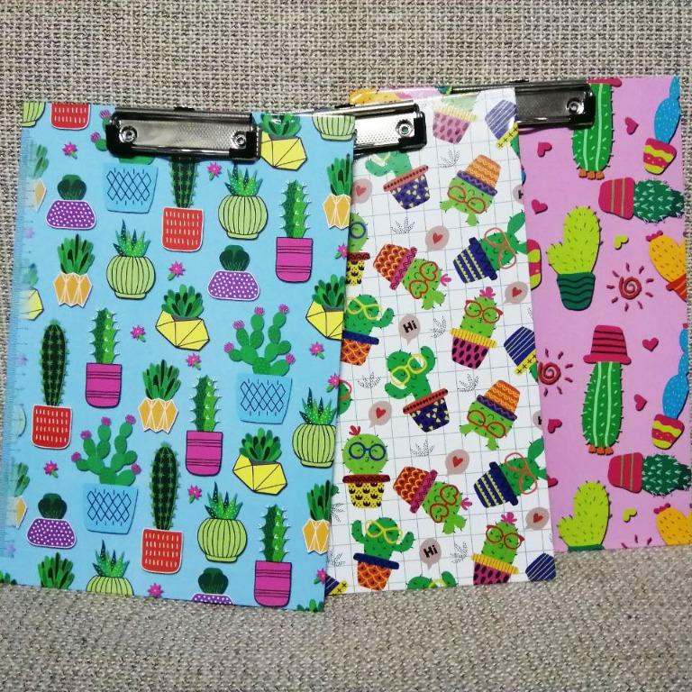 Hard Card A4 Paper Clip File Folder Clipboard Board Stationery Cute Cactus Cartoon With Side Ruler School Office Books Stationery Stationery On Carousell