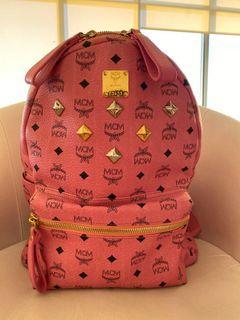 MCM Pink Large Backpack