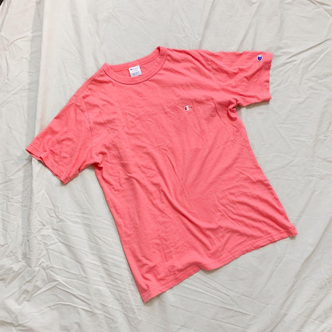 Pink oversized champion top