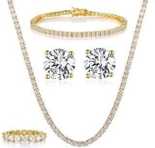 Princess 14k gold plated set