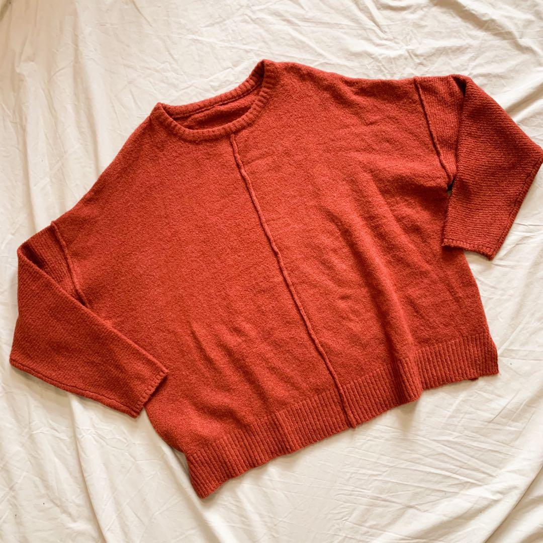 Red knit jersey