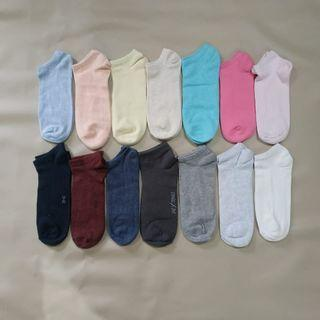 12 pasang Kaos Kaki semata kaki warna