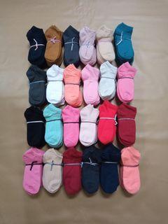 12 pasang kaoskaki semata kaki warna unisex gres