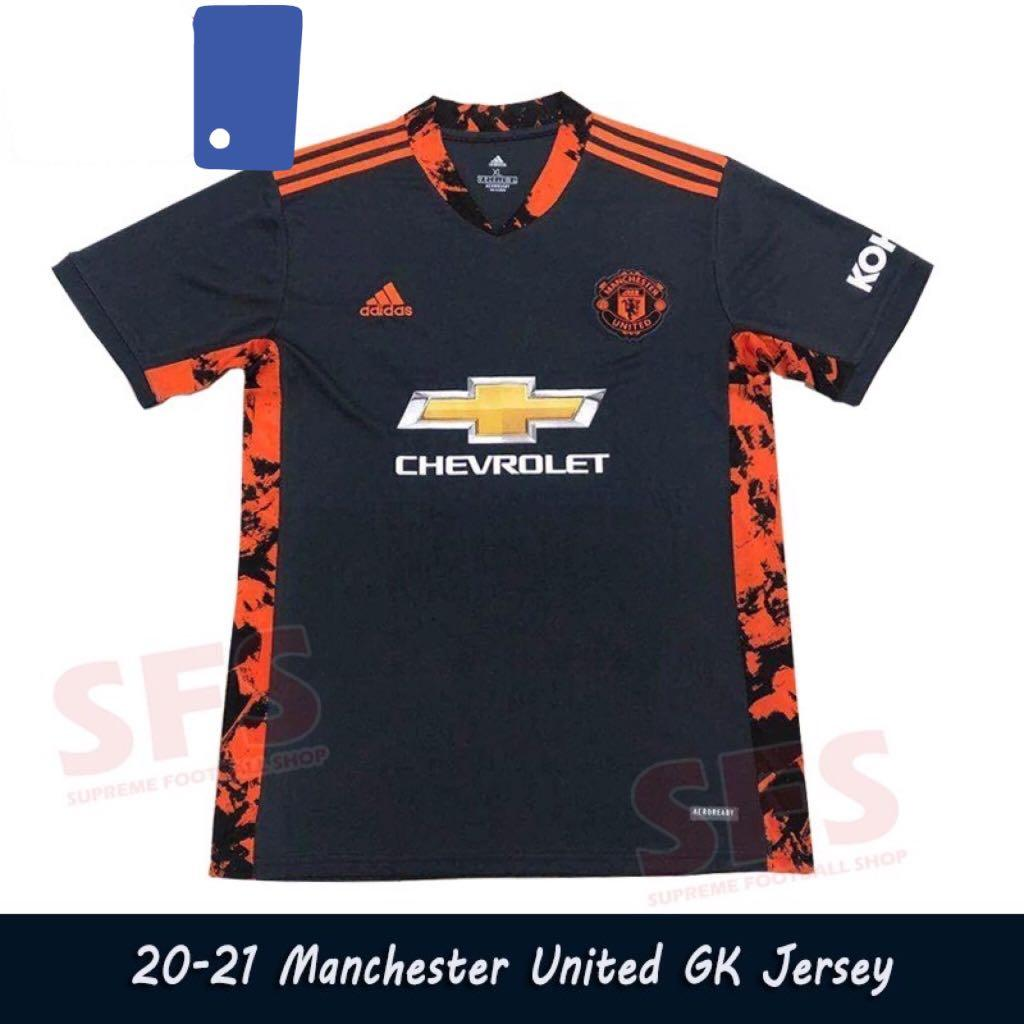 20 21 New Goalkeeper Manchester United Jersey Men S Fashion Clothes Tops On Carousell