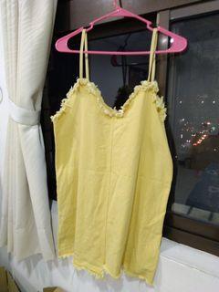 芥黃吊帶裙
