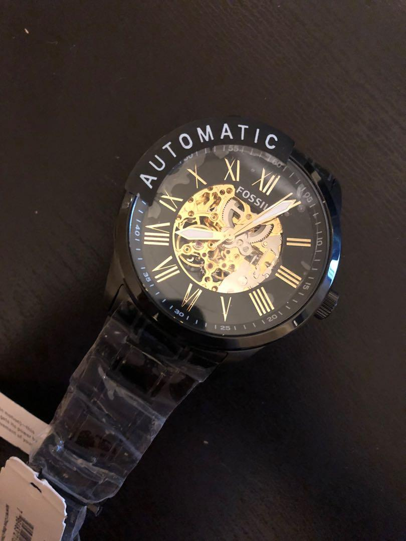 Black automatic fossil
