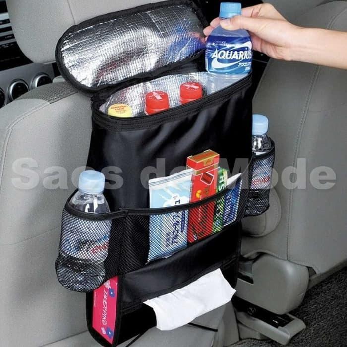 Car Seat Organizer Rak Gantungan Jok Mobil Penahan Panas Dingin / Car Seat Bag Organizer