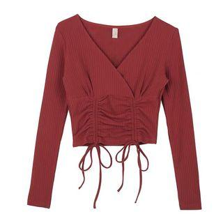 Crop top raspberry red size xs