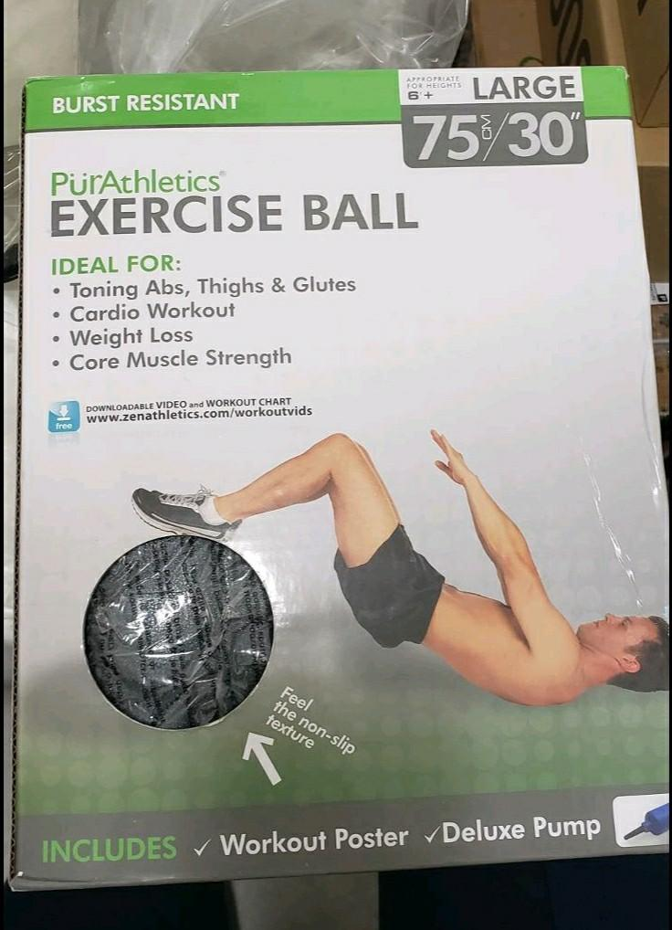 Exercise ball, brand new in box