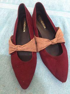 Flatshoes Maroon (ukuran 40)
