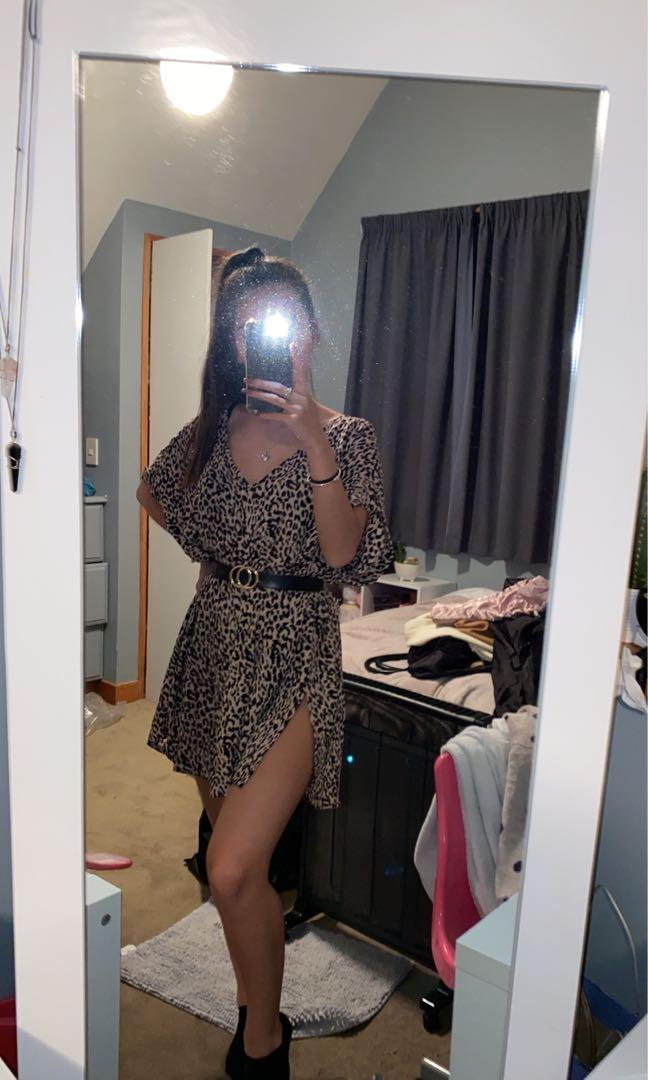 leopard print top/dress