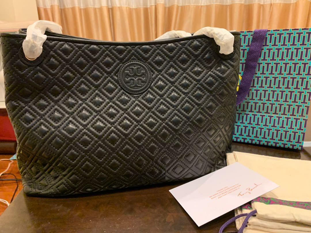 Ready Stock authentic Tory Burch Marion quilting leather shoulder bag
