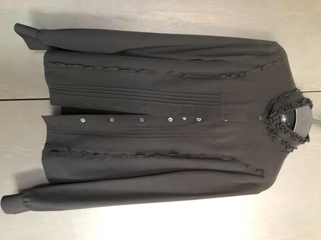 ruffle black shirt