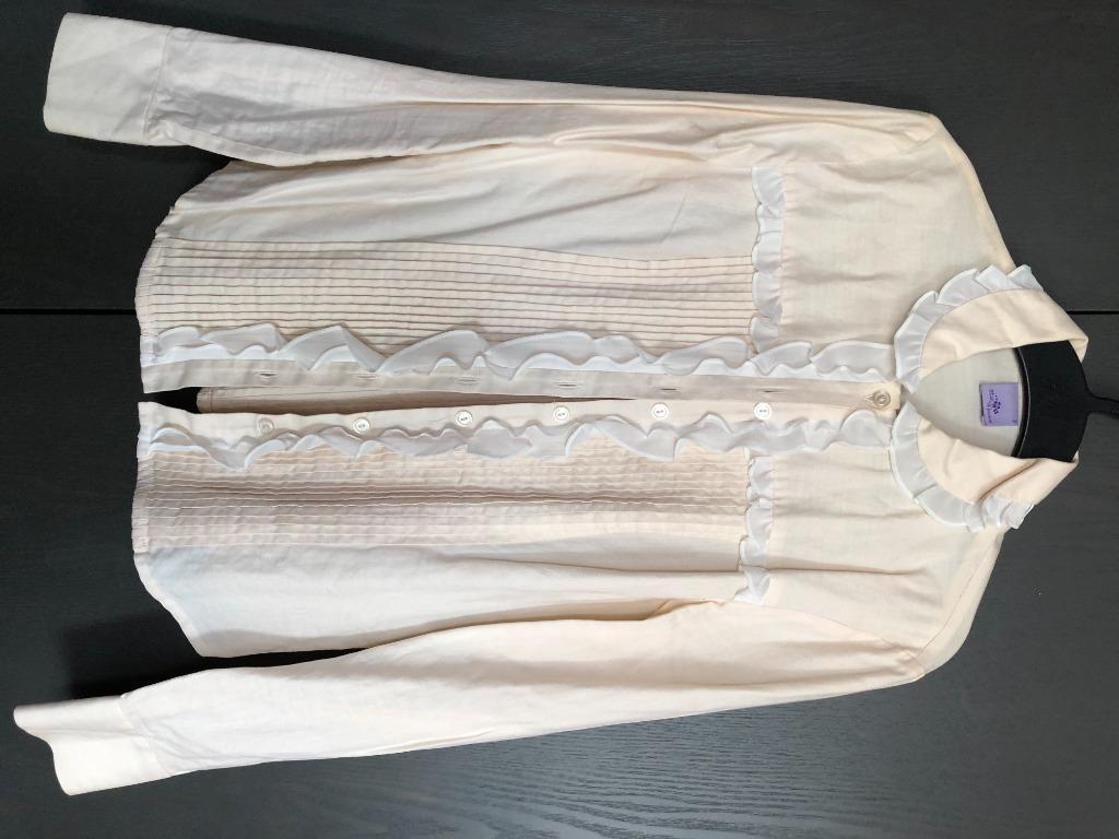 ruffle shirt white