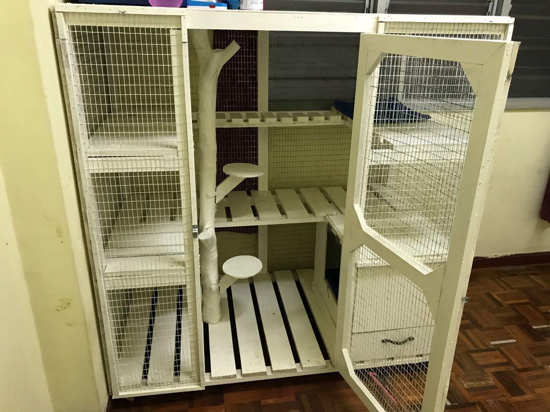 Sangkar Kucing Kayu Pet Supplies