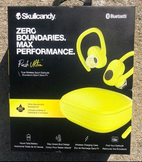 Skullcandy Push Ultra True Wireless Sport Earbuds in Electric Yellow — Brand New In Box