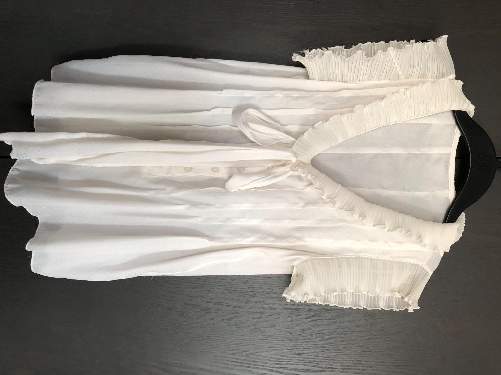 soft silk like top white