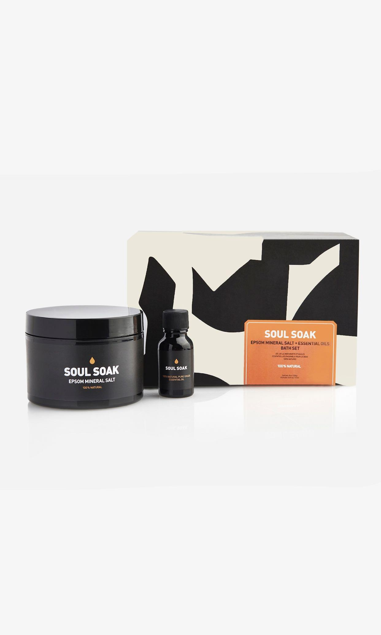 Soul Soak Bath Set - Epsom Mineral Salt + Essential Oil