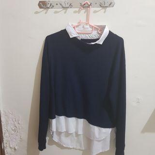 Sweater Blue Bershka