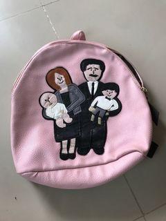 Tas backpack pink murah meriah