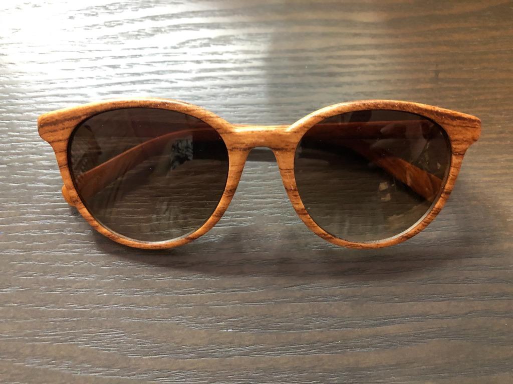 Wooden look sunglasses