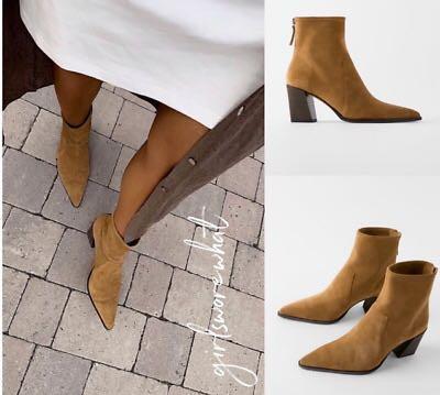 zara suede boots, Women's Fashion