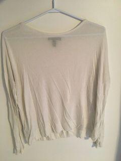 Zara white long sleeve top
