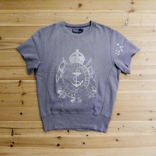 《白木11》 🇺🇸 90's vintage Polo Ralph Lauren 短袖 潑漆 大學T T恤 古著