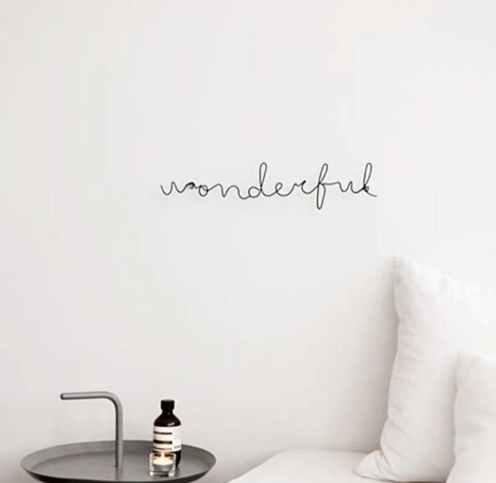 Tumblr Minimalistic Metal Cursive Words Wall Decoration Furniture Home Decor Others On Carousell