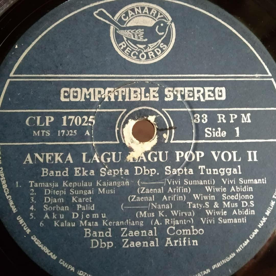 Aneka Lagu Lagu Pop Vol. 2 Vinyl  Indopop
