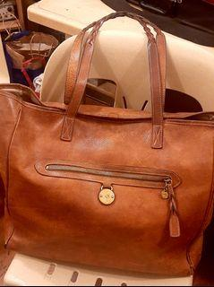 Reprice!! Authentic Vintage Mulberry  Oak tote
