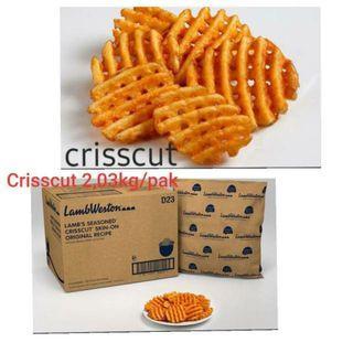 KENtang import Lambweston crisscut / waffle 2.03kg kemasan original