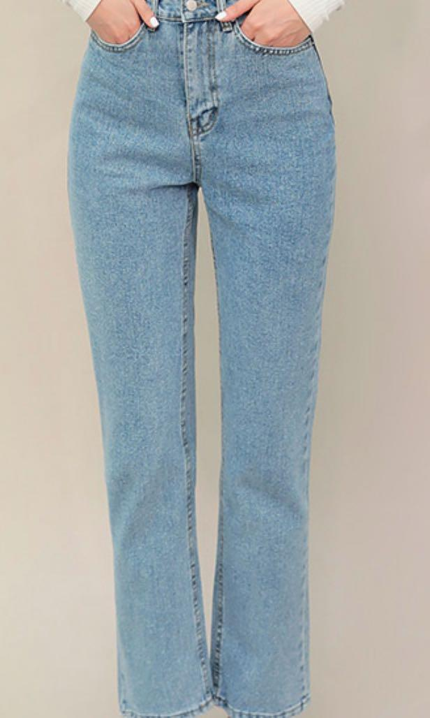 Korean brand chuu straight fit jeans NEW