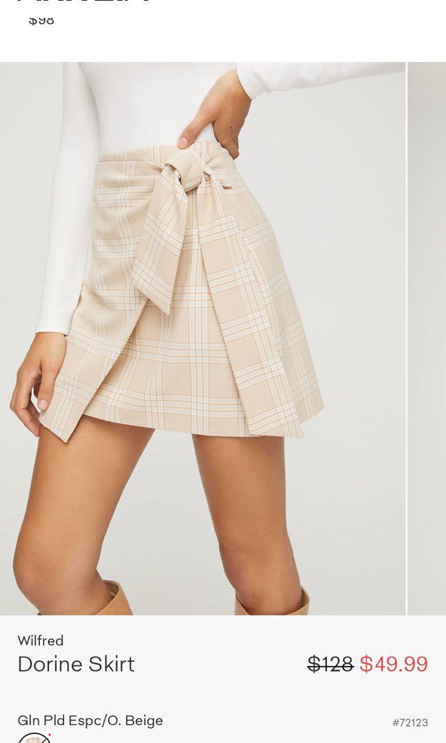 Looking for: ARITZIA WILFRED Plaid Dorine Skirt or Isabella Mini Dress