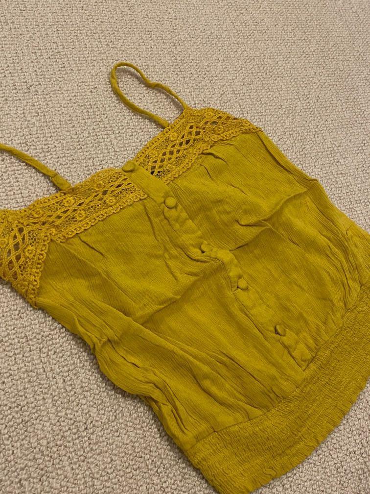 mirrou ginger yellow cami